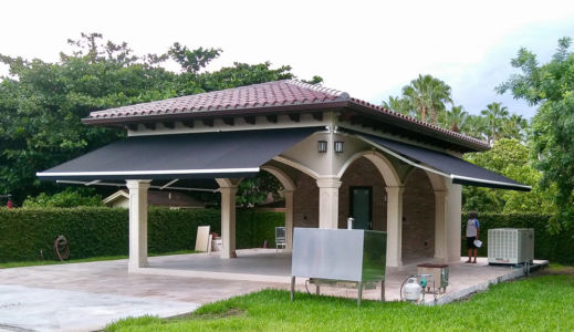 Three 10' Projection Awnings